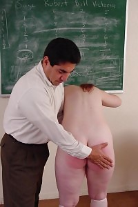 Pigtailed Light-haired Hottie Gets Punished By Her Professor With Wild Bare Bottom Slapping