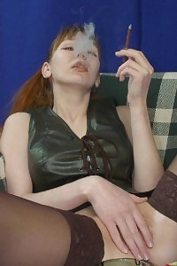Outstanding Stocking Princess Smoking And Having Fun With Pussy