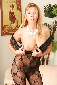 Blonde Filthy Breast MILF Lisa Lips Satisfies Her Tight Cooter With A Gigantic Hard Brown Dick