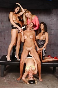 Vanessa And A Team Of Beautiful Lesbian Matures Go Naughty And Bang Her With Dildo Toys
