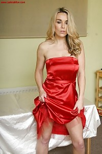 Exotic Stevie Is An Top Notch With Her Sexy Red Dress And Red Panties