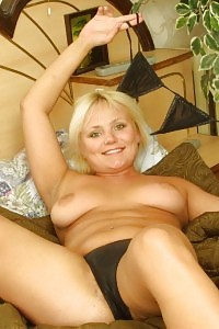 Exotic Blonde Mom Chick Posing In Bedroom And Revealing Her Legs Wide To Exhibit Off Her Hairy Box
