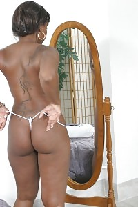Black Doll Jerking Off In Her White Lingerie