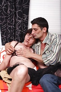 Cock Thirsted Aged Stephanie Gets Off Her Dentures To Do Velvet Ride On A Hungry Nubile Boy
